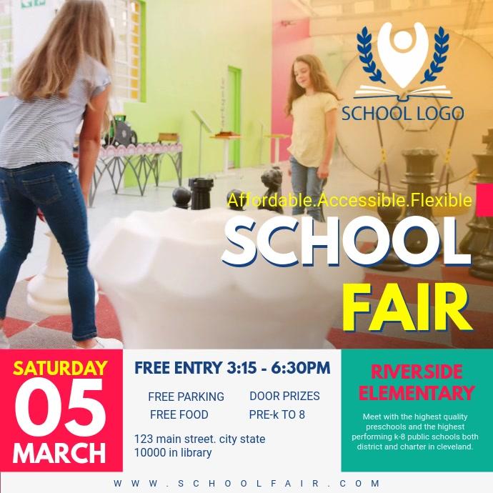 School Fair Invitation Template