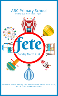 School Fete Flyer