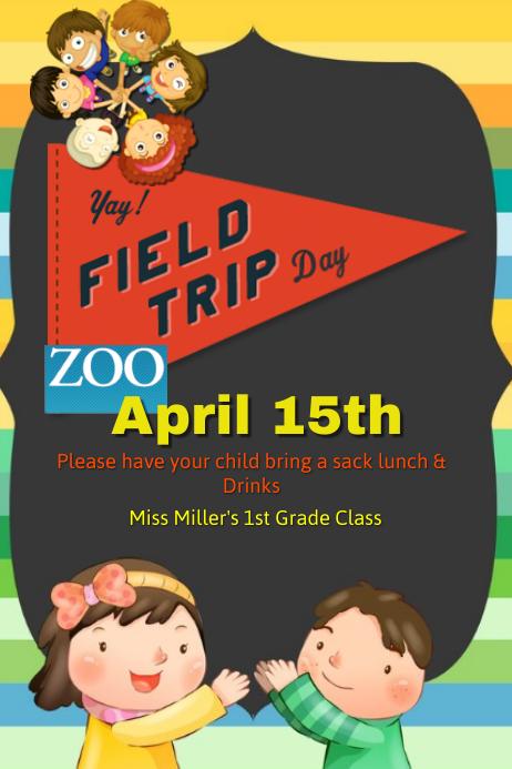 Customizable design templates for field trip postermywall school field trip template maxwellsz