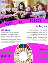 school flyer template design Pamflet (VSA Brief)