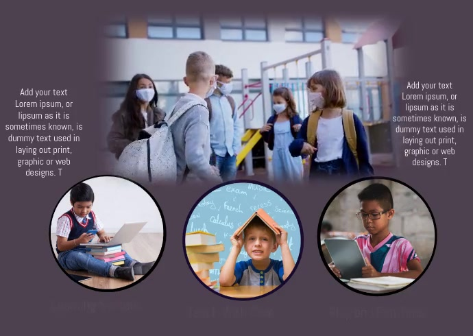 SCHOOL FLYER TEMPLATE Postcard