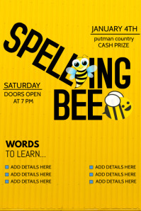 school flyers,event flyers,Spelling bee flyers