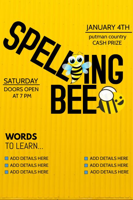 school flyers event flyers spelling bee flyers template