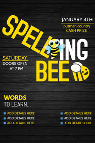 school flyers,event flyers,Spelling bee flyers