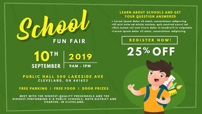 School Fun Book Fair Banner Design