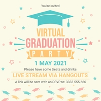 School graduation party celebration invitatio Instagram-bericht template