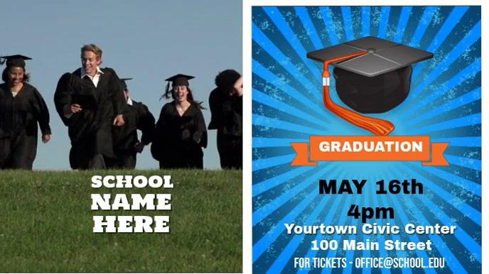 School Graduation video Pantalla Digital (16:9) template