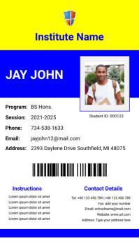 School ID Card Design Template