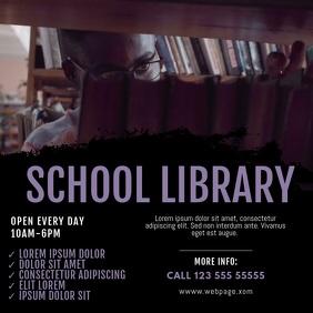 School Library Video design instagram