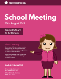 School meeting flyer template