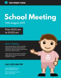 School meeting flyer template