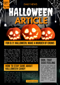 School Newsletter Halloween Newsletter A4 template