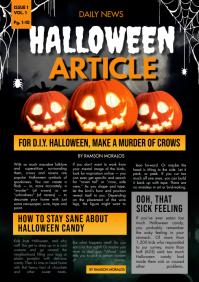 School Newsletter Halloween Newsletter A4 template