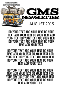 SCHOOL NEWSLETTER TEMPLATE POSTER FLYER