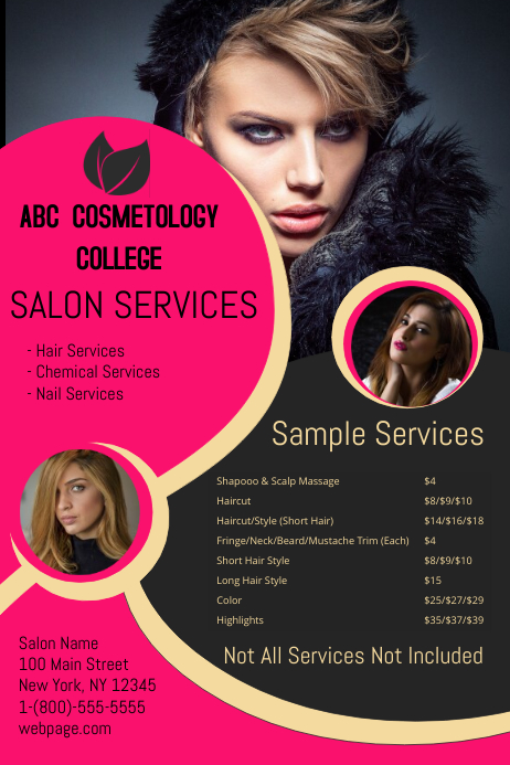 School of Cosmetology Template | PosterMyWall
