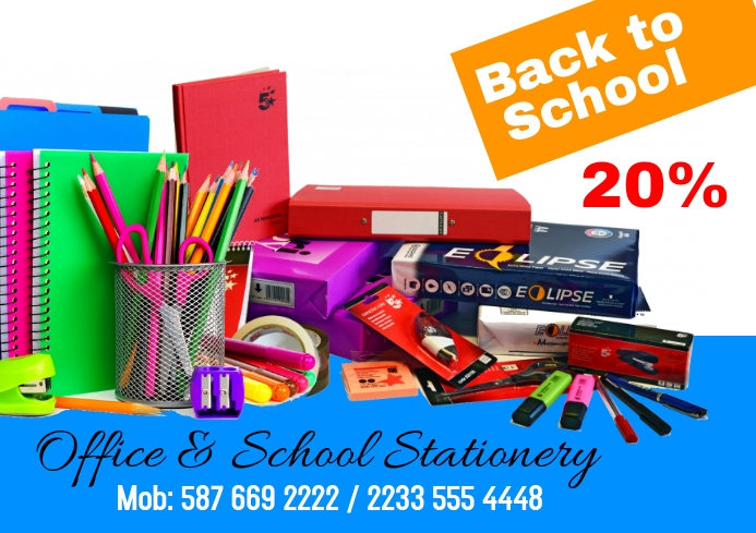 School Office Stationery A2 template