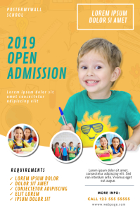 School Open Admission Flyer Template