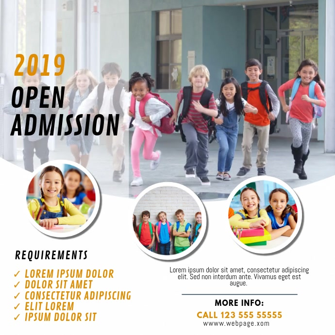 School Open Admission Video Template