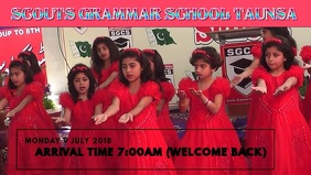 SCHOOL OPENING Facebook Cover Video (16:9) template