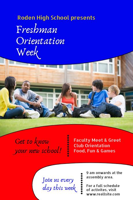 School Orientation Poster template