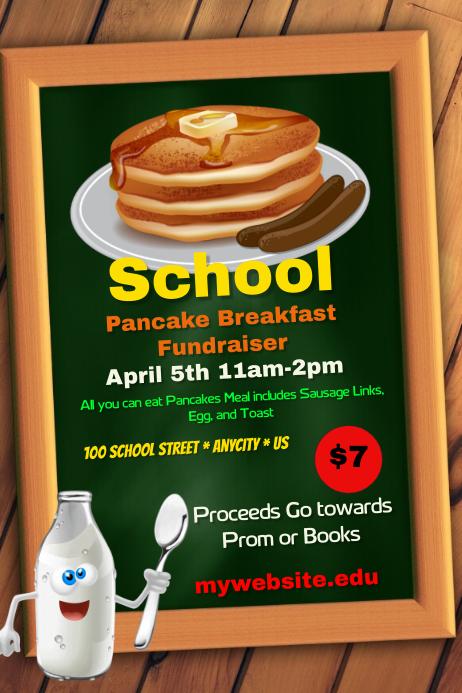 school pancake fundraiser