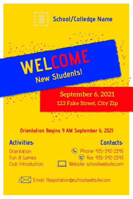 School Poster template