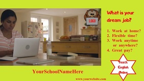 School Poster Видеообложка профиля Facebook (16:9) template