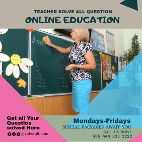 school poster education 4 template