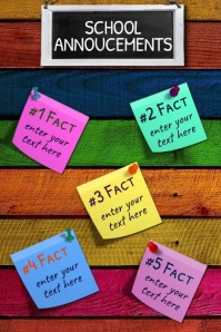 School Poster- School Announcements template