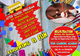 School program Flyer template poster
