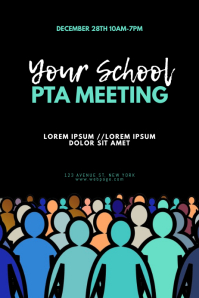 School PTA Meeting Flyer Design Template
