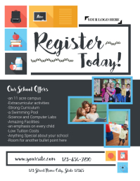 School Register Today Flyer (US Letter) template