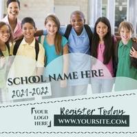 School Register Today Instagram Post template