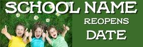 School Reopening Banner template