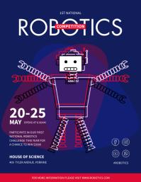 School Robotics Competition Custom Flyer