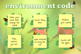 School Rules for Environment Conservation Poster
