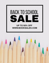 School Sale Flyer (US Letter) template