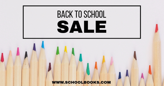 School Sale Facebook Shared Image template