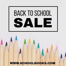 School Sale Instagram Post template
