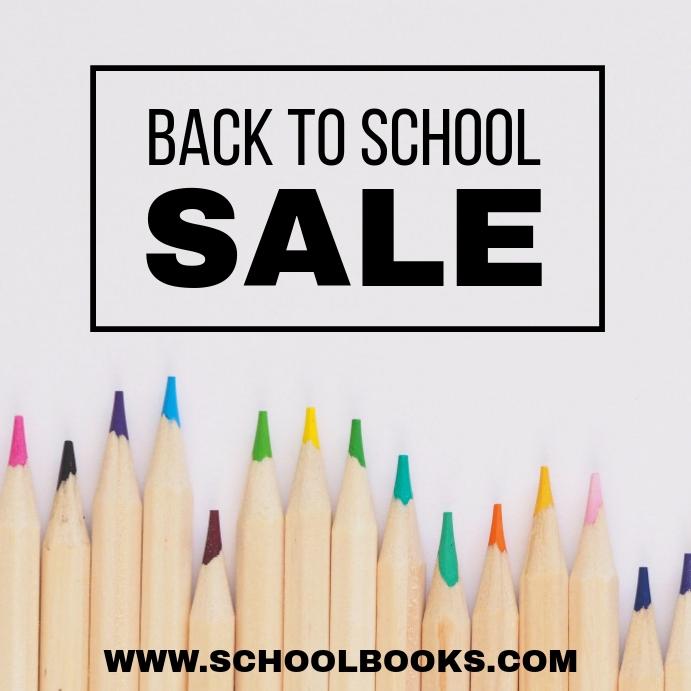 School Sale Instagram Post template