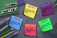 School Timetable โปสเตอร์ template
