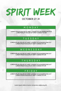 School Spirit Week Schedule Flyer Template