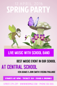 school spring party flyer template
