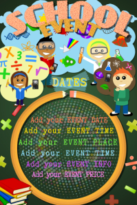 School Subject Science Math Event Kids Educational Party