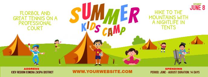 School Summer Camp Banner