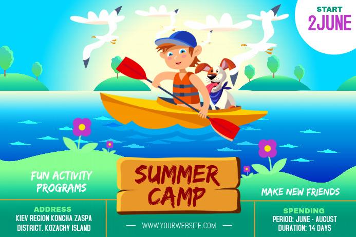 School Summer Camp Poster