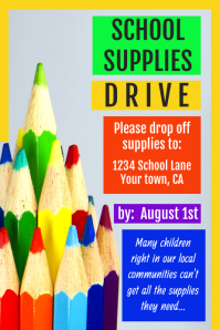 School Supplies Drive Poster
