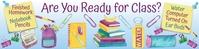 School Supplies Google Classroom Banner template