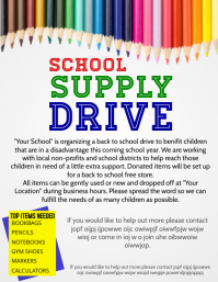 school supply drive Flyer (US Letter) template