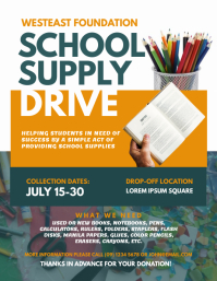 School Supply Drive Flyer Template